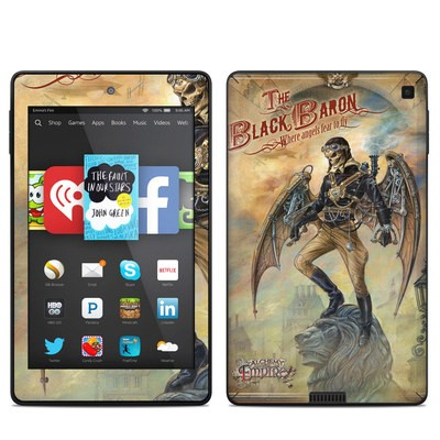 Amazon Kindle Fire HD 6in Skin - The Black Baron