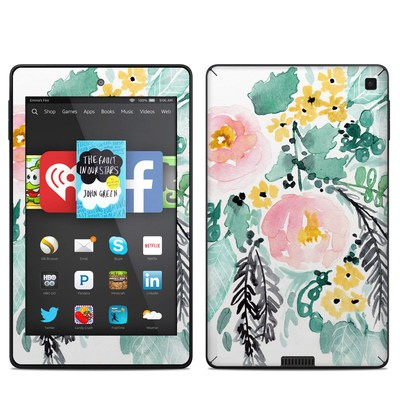 Amazon Kindle Fire HD 6in Skin - Blushed Flowers