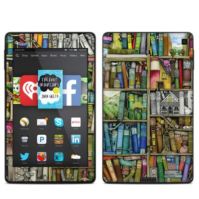 Amazon Kindle Fire HD 6in Skin - Bookshelf