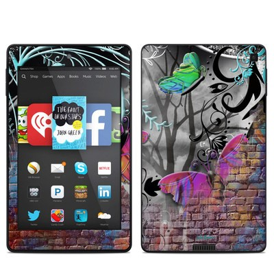 Amazon Kindle Fire HD 6in Skin - Butterfly Wall