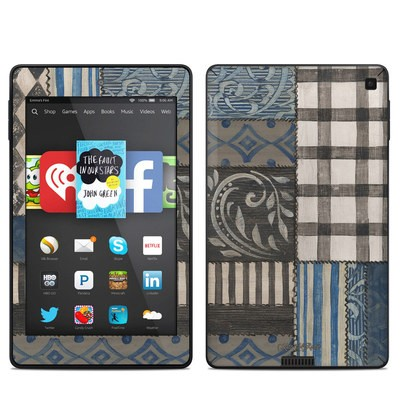 Amazon Kindle Fire HD 6in Skin - Country Chic Blue