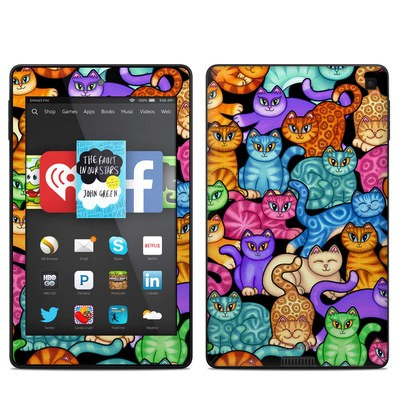Amazon Kindle Fire HD 6in Skin - Colorful Kittens