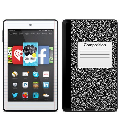 Amazon Kindle Fire HD 6in Skin - Composition Notebook