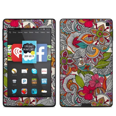 Amazon Kindle Fire HD 6in Skin - Doodles Color
