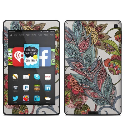 Amazon Kindle Fire HD 6in Skin - Feather Flower