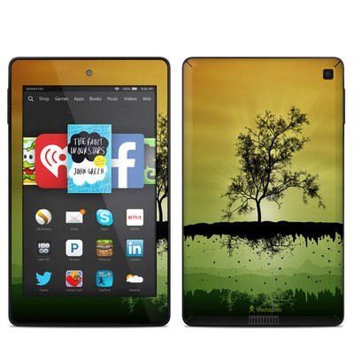 Amazon Kindle Fire HD 6in Skin - Flying Tree Amber