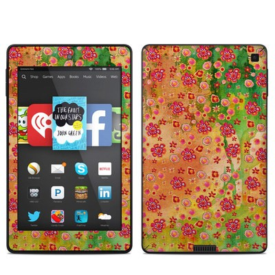Amazon Kindle Fire HD 6in Skin - Garden Flowers