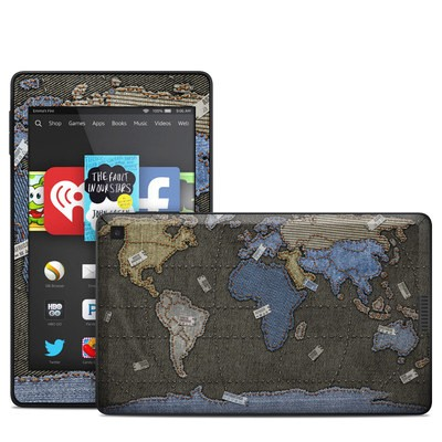 Amazon Kindle Fire HD 6in Skin - Jean Map