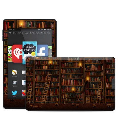 Amazon Kindle Fire HD 6in Skin - Library