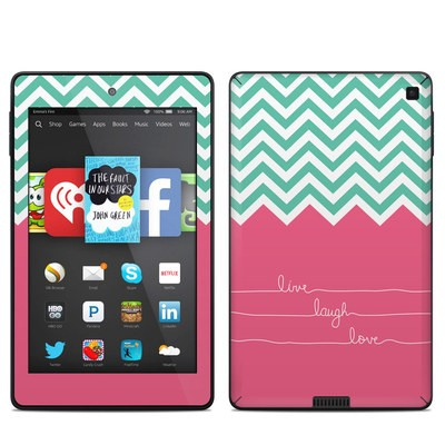 Amazon Kindle Fire HD 6in Skin - Live Laugh Love