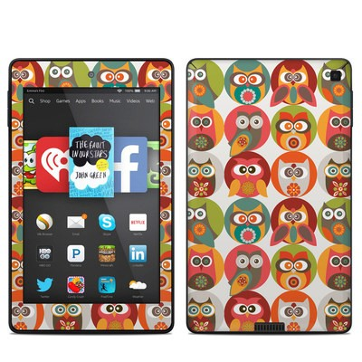 Amazon Kindle Fire HD 6in Skin - Owls Family