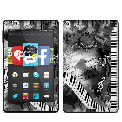 Amazon Kindle Fire HD 6in Skin - Piano Pizazz