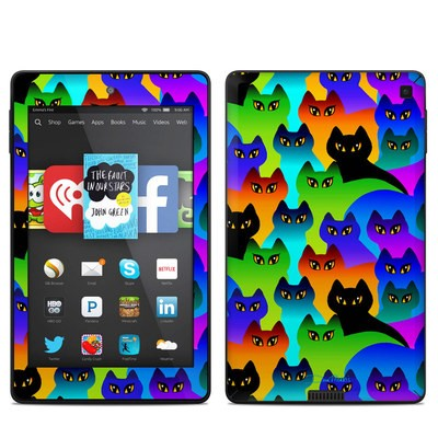 Amazon Kindle Fire HD 6in Skin - Rainbow Cats