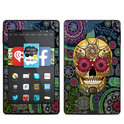 Amazon Kindle Fire HD 6in Skin - Sugar Skull Paisley
