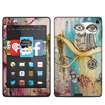 Amazon Kindle Fire HD 6in Skin - Surreal Owl