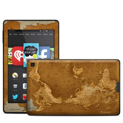 Amazon Kindle Fire HD 6in Skin - Upside Down Map