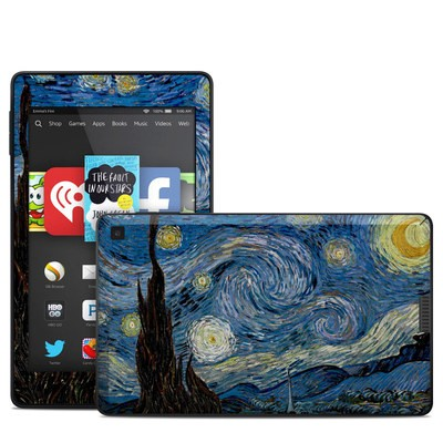 Amazon Kindle Fire HD 6in Skin - Starry Night