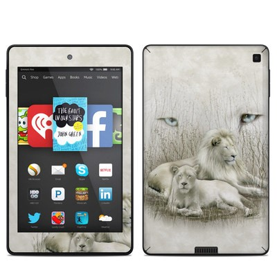Amazon Kindle Fire HD 6in Skin - White Lion