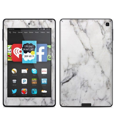 Amazon Kindle Fire HD 6in Skin - White Marble