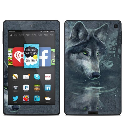 Amazon Kindle Fire HD 6in Skin - Wolf Reflection