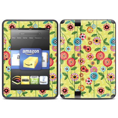 Amazon Kindle Fire HD (2012) Skin - Button Flowers