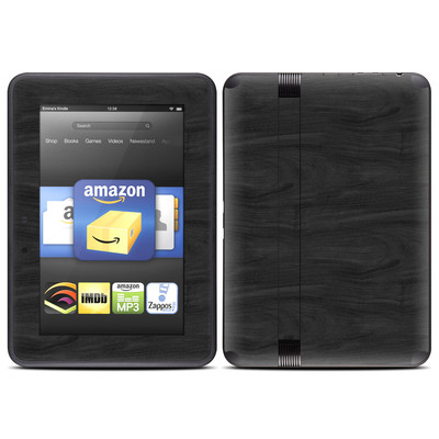 Amazon Kindle Fire HD (2012) Skin - Black Woodgrain