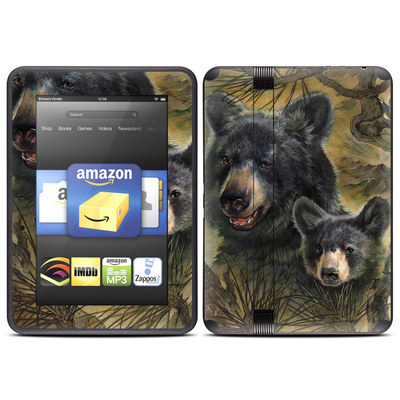 Amazon Kindle Fire HD (2012) Skin - Black Bears