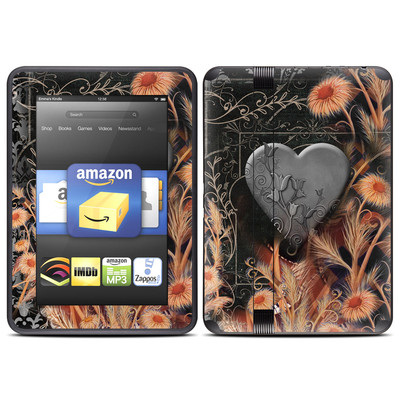 Amazon Kindle Fire HD (2012) Skin - Black Lace Flower