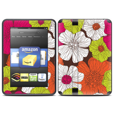 Amazon Kindle Fire HD (2012) Skin - Brown Flowers