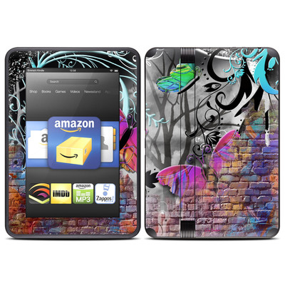 Amazon Kindle Fire HD (2012) Skin - Butterfly Wall