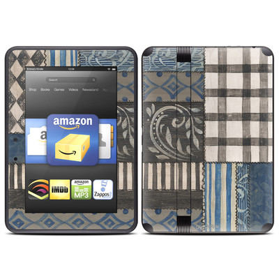 Amazon Kindle Fire HD (2012) Skin - Country Chic Blue