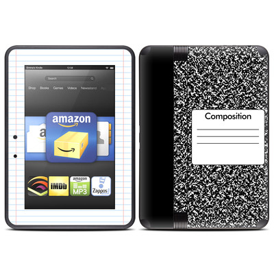 Amazon Kindle Fire HD (2012) Skin - Composition Notebook
