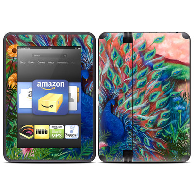 Amazon Kindle Fire HD (2012) Skin - Coral Peacock