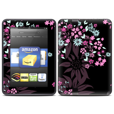 Amazon Kindle Fire HD (2012) Skin - Dark Flowers