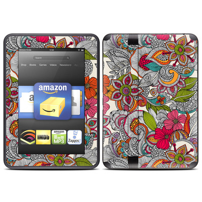 Amazon Kindle Fire HD (2012) Skin - Doodles Color