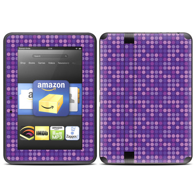 Amazon Kindle Fire HD (2012) Skin - Dots Purple