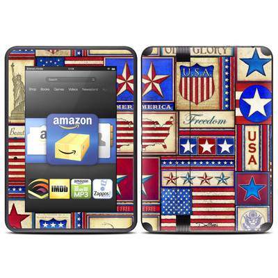 Amazon Kindle Fire HD (2012) Skin - Flag Patchwork