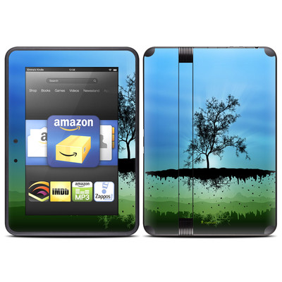 Amazon Kindle Fire HD (2012) Skin - Flying Tree Blue