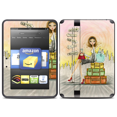 Amazon Kindle Fire HD (2012) Skin - The Jet Setter