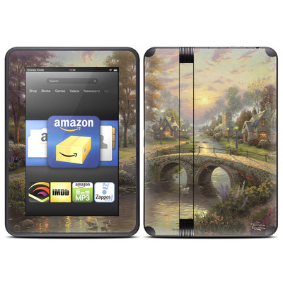 Amazon Kindle Fire HD (2012) Skin - Sunset On Lamplight Lane