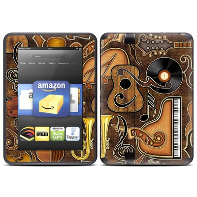 Amazon Kindle Fire HD (2012) Skin - Music Elements