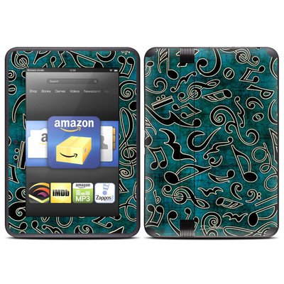 Amazon Kindle Fire HD (2012) Skin - Music Notes
