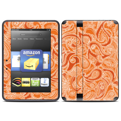 Amazon Kindle Fire HD (2012) Skin - Paisley In Orange