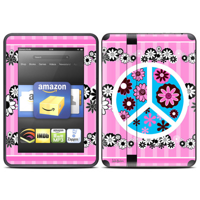 Amazon Kindle Fire HD (2012) Skin - Peace Flowers Pink