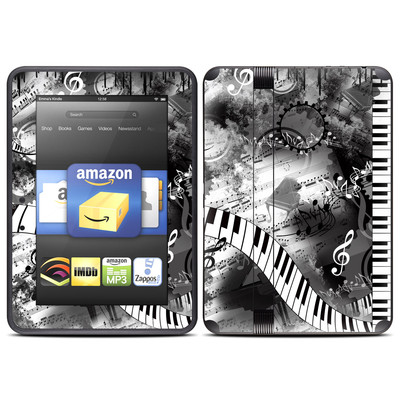 Amazon Kindle Fire HD (2012) Skin - Piano Pizazz