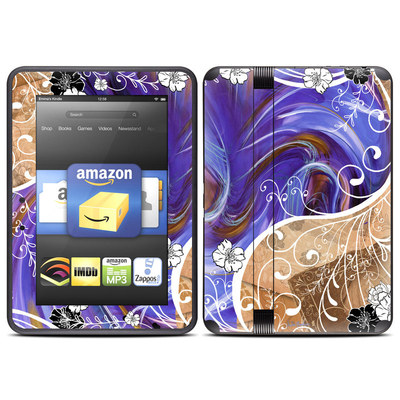 Amazon Kindle Fire HD (2012) Skin - Purple Waves