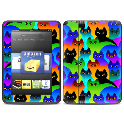 Amazon Kindle Fire HD (2012) Skin - Rainbow Cats