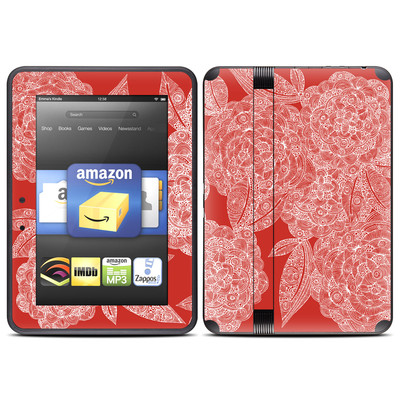 Amazon Kindle Fire HD (2012) Skin - Red Dahlias