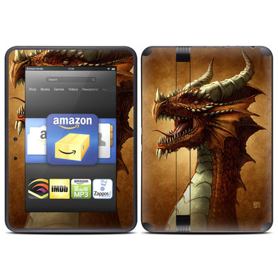 Amazon Kindle Fire HD (2012) Skin - Red Dragon