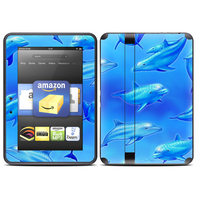 Amazon Kindle Fire HD (2012) Skin - Swimming Dolphins